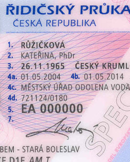 Czech Republic Drivers License