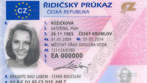 Czech Republic Driver License