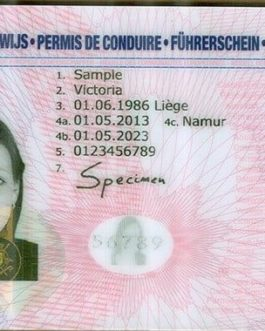 Belgium Drivers License