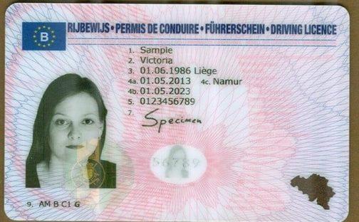 Belgian Driver License
