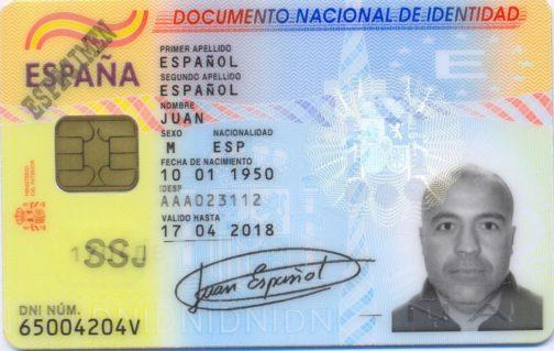 Documento Nacional de Identidad (Spain)