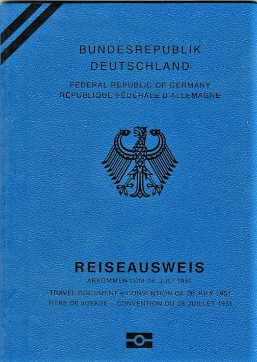 German Refugee passport
