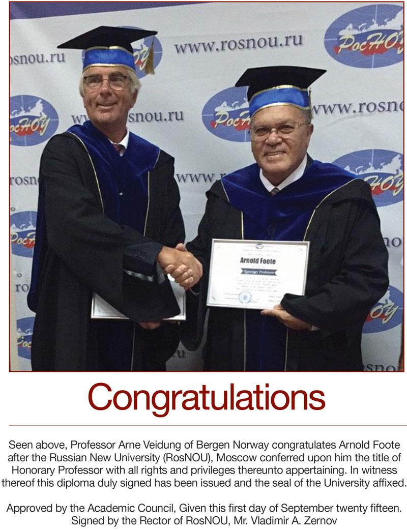Honorary Professorship