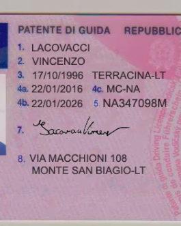 Italian Drivers License