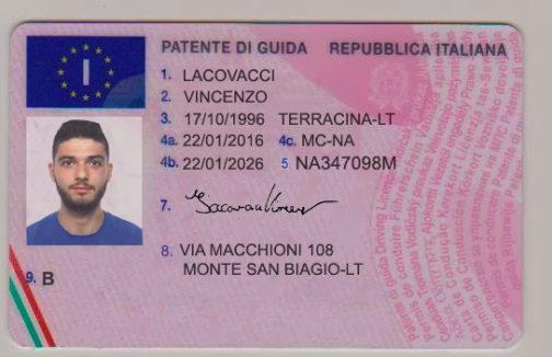 Italian Driver's License