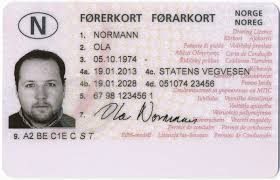 Norway driver's license