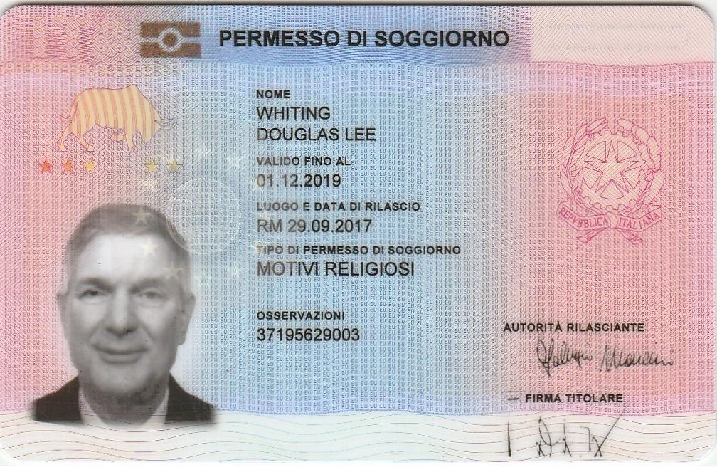 Permesso Di Soggiorno - Valid Documents
