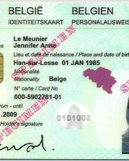 Belgian national identity card