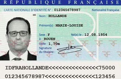 French National identity card
