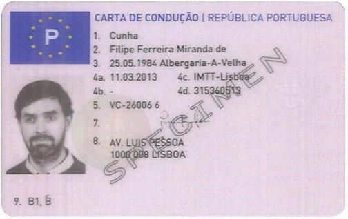 Portuguese Drivers License